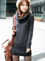 Вязаный свитер с воротником (12312505)