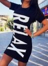 Платье спортивное Relaх черное (1019)