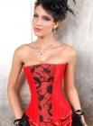 Роскошный красный корсет (5208)