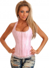 Розовый корсет на бретелях (5261)