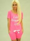 Спортивный костюм  Los Angeles City розовый (0615-3)